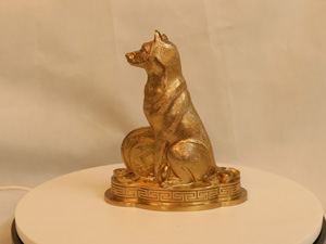Tượng đồng con Chó cao 20cm - Q0167