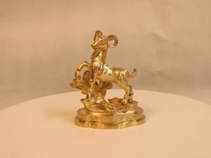 Tượng đồng con Dê cao 12cm - Q0132