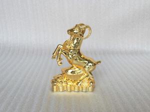 Tượng đồng con Dê mạ vàng cao 18cm - Q0274