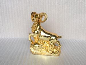 Tượng đồng con Dê cao 28cm mạ vàng 24k - Q0282