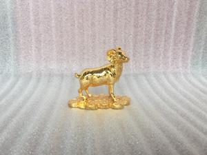 Tượng đồng con Dê mạ vàng cao 9cm - Q0341