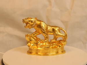 Tượng đồng con Hổ dát vàng dài 20cm - Q0196