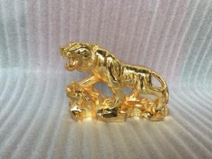 Tượng đồng con Hổ mạ vàng 24k dài 20cm - Q0327