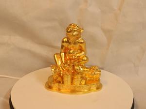Tượng đồng con Khỉ dát vàng cao 18cm - Q0192