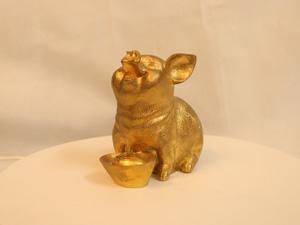 Tượng đồng con Lợn 14cm - Q0165
