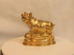 Tượng đồng con Lợn 18cm - Q0146