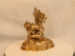 Tượng đồng con Rồng 20cm - Q0149