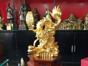 Tượng đồng con Rồng 50cm dát vàng 9999 - Q0549
