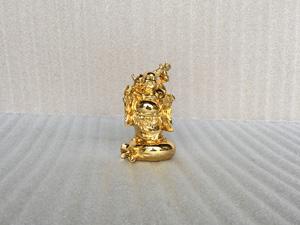 Tượng đồng Di Lặc mạ vàng đứng bao tiền cao 11cm - Q0344