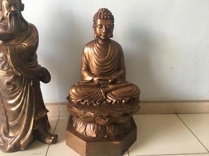 Tượng đồng Đức Phật ngồi đài sen 60cm - Q0559