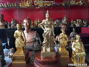 Tượng Đồng Nữ Tướng Lê Chân cao 50cm
