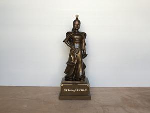 Tượng đồng nữ tướng Lê Chân cao 55cm - Q0347