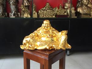 Tượng đồng Phật Di Lặc 30cm dát vàng 9999 - Q0526