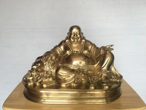 Tượng đồng Phật Di Lặc đồng vàng tinh khiết 50cm - Q0472