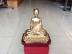 Tượng đồng Phật Hoàng Trần Nhân Tông 16cm - Q0321