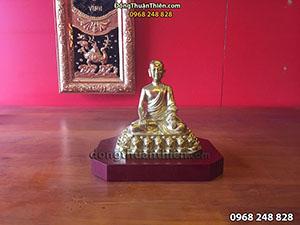 Tượng Đồng Phật Hoàng Trần Nhân Tông 16cm