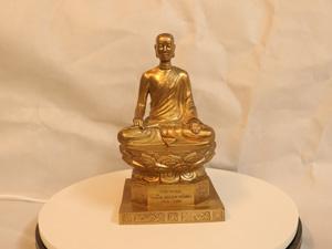 Tượng đồng Phật Hoàng Trần Nhân Tông 23cm - Q0171