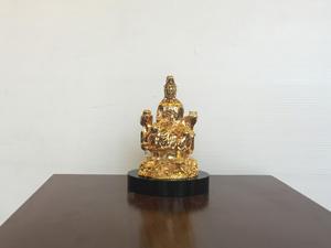 Tượng đồng Phật Quan Âm mạ vàng cao 8cm - Q0424