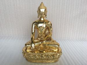 Tượng đồng Phật Thích Ca cao 36cm mạ vàng 24k - Q0412