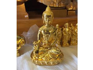 Tượng đồng Phật Thích Ca mạ vàng 25cm - Q0313