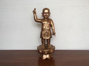 Tượng đồng Phật Thích Ca đản sinh 42cm - Q0434