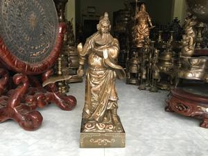 Tượng đồng Quan Công khảm tam khí 70cm - Q0376