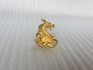 Tượng đồng con Rồng mạ vàng 8cm - Q0268