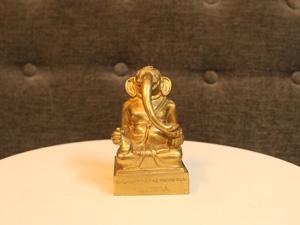 Tượng đồng Thần Voi Ganesha 10cm - Q0243