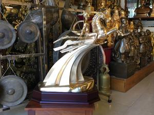 Tượng đồng Thánh Gióng cao 63cm - Q0351