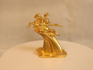 Tượng đồng Thánh Gióng dát vàng cao 15cm - Q0112