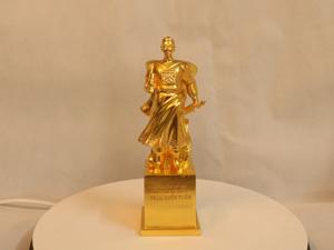 Tượng đồng Trần Hưng Đạo dát vàng cao 23cm - Q0100