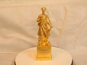 Tượng đồng Trần Hưng Đạo dát vàng 30cm - Q0190
