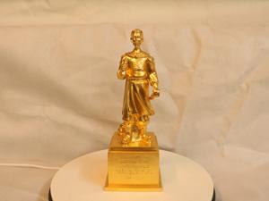 Tượng đồng Trần Quốc Tuấn dát vàng cao 30cm - Q0183
