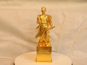 Tượng đồng Trần Quốc Tuấn dát vàng cao 32cm - Q0181