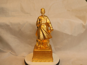 Tượng đồng Trần Quốc Tuấn dát vàng cao 50cm - Q0217