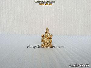 Tượng Phật Bà Quan Âm Ngồi Mạ Vàng 24K cao 8cm