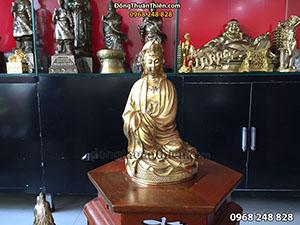 Tượng Phật Bà Quan Âm Ngồi cao 30cm