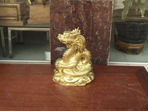 Tượng Rồng phong thủy đồng katut 36cm - Q0654