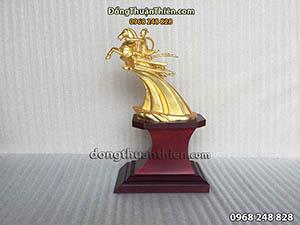 Tượng Thánh Gióng Mạ Vàng Cao 11cm