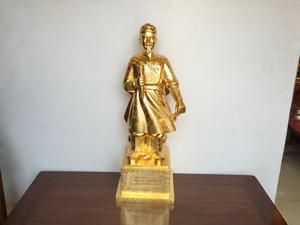 Tượng Trần Quốc Tuấn dát vàng cao 81cm - Q0435