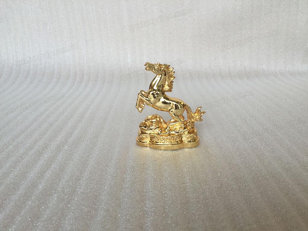 Tượng đồng con Ngựa mạ vàng cao 11cm - Q0278